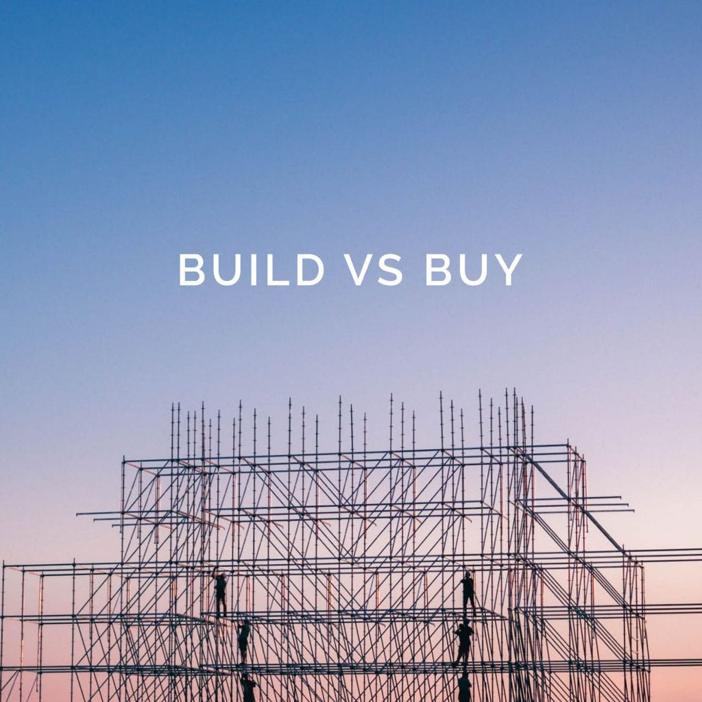 Build vs Buy – ROI is the Key