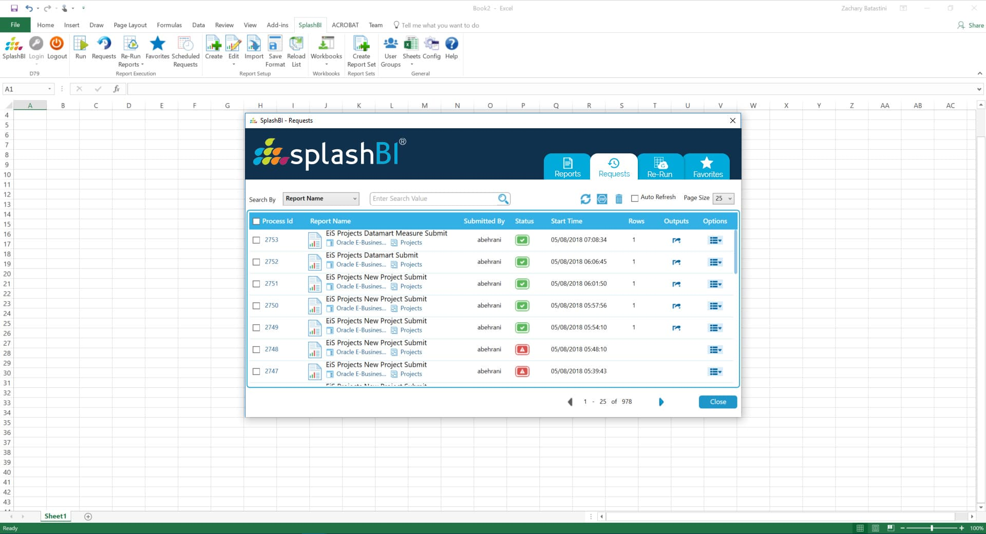 Excel Reporting With SplashBI