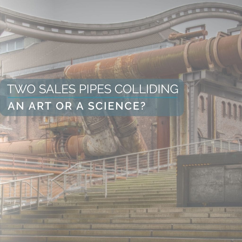 Two Sales Pipes Colliding