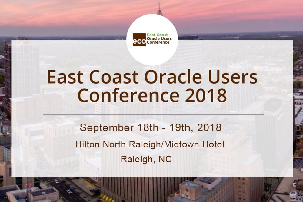 East Coast Oracle Users Conference 2018