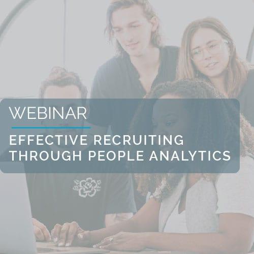 Webinar: Effective recruiting through People Analytics 1