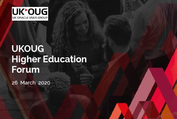 UKOUG Higher Education Forum 1