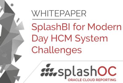SplashBI for Modern Day HCM System Challenges 6