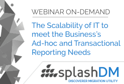 Webinar On-Demand | Business's Ad-hoc and Transactional Reporting Needs 9