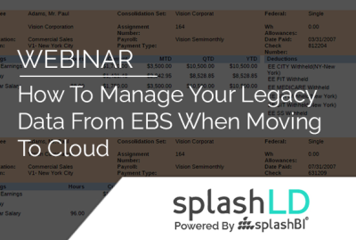 How To Manage Your Legacy Data From EBS When Moving To Cloud 7